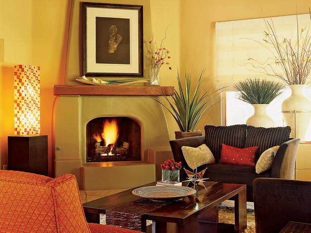 Pillows featherednestdiaries for Southwestern fireplaces